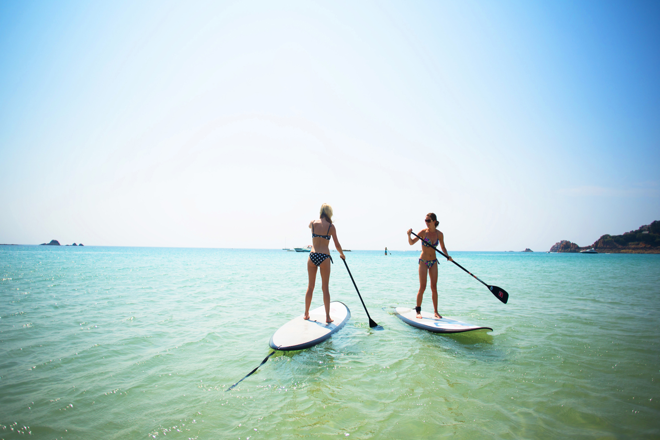Jersey paddle boarding